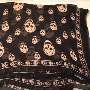 Alexander McQueen Silk Skull Pattern Scarf